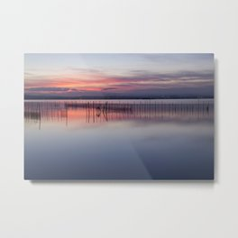 Peaceful view of the Valencia water's surface with the land in the distance Metal Print