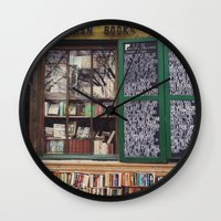 shakespeare Wall Clocks featuring Shakespeare in Paris #2 by Alicia Bock