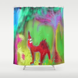 Dog Howling by 'Mickeys Art And Design' Shower Curtain