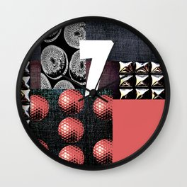PINK #THE 7 Wall Clock