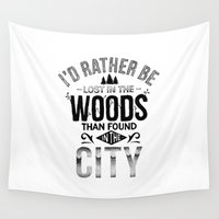 woods Wall Tapestries featuring WOODS by Thiago Bianchini