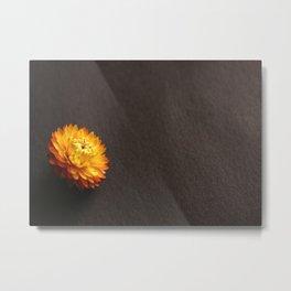 Everlasting Single Flower Mockup Metal Print
