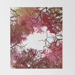 Autumn Treetop Throw Blanket