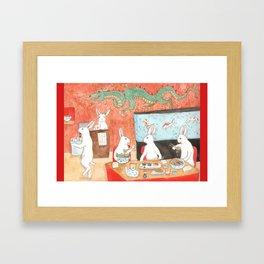 Sushi and Noodles Framed Art Print
