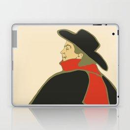 Bruant in his cabaret retro vintage Laptop & iPad Skin