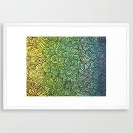 The human mind. Framed Art Print