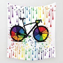 Rainbow raindrops Wall Tapestry
