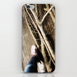 Walking the Line iPhone Skin