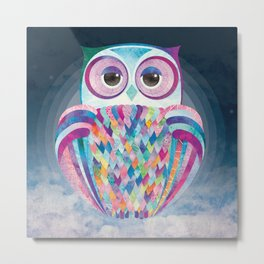 Shanti Sparrow: Luna the Owl Metal Print
