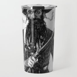 Blackbeard at attention with rifle Travel Mug