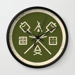 S'mores Society Wall Clock