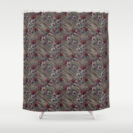 Vintage Rumpled Blossoms Shower Curtain