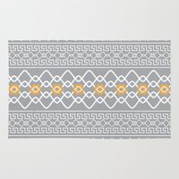nordic Area & Throw Rugs featuring Nordic Pattern by Andrew Leif Hanssen
