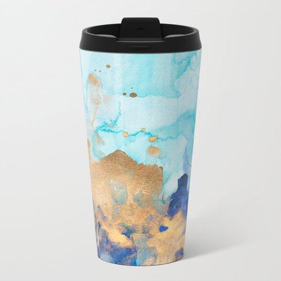 Abstract watercolor Metal Travel Mug