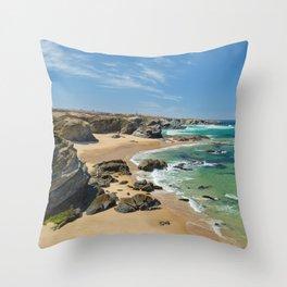 Samoqueira beach Throw Pillow