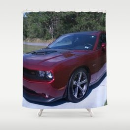 100th Anniversary Challenger with rare shaker hood Shower Curtain