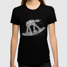 Rocking horse Womens Fitted Tee Black SMALL
