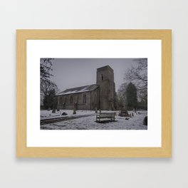 Dunkirk Church In Winter Framed Art Print