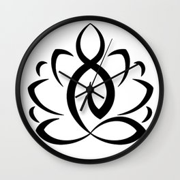 Lotus Pose Art Wall Clock