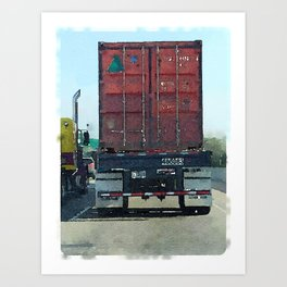 Daily Truck: 08/26/15 Art Print
