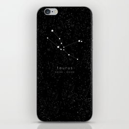 Taurus Zodiac Constellation iPhone Skin