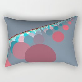 Floating Discs on Grey (B) Rectangular Pillow