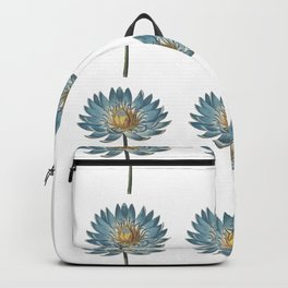 Blue Egyptian water lily pattern Backpack