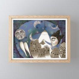 Go to Sleep, Says the Night Framed Mini Art Print