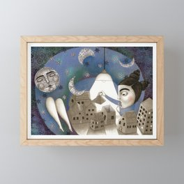 Go to Sleep, Says the Night Framed Mini Art Print