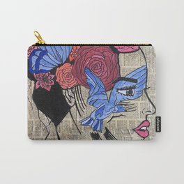 Whimsical News Girl Carry-All Pouch