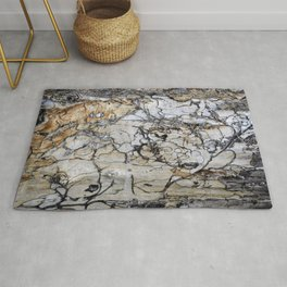 Natural Distressed Beach Drift Wood Textures Rug
