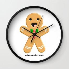 Cute Ginger Cookie Gingerbread Men Wall Clock