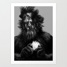 Cowardly Lion of Oz Art Print