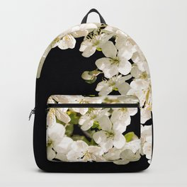 Cherry Flowers On Black Background #decor #society6 #buyart Backpack