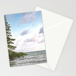 Huron leaning pine Stationery Cards