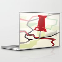 paper towns Laptop & iPad Skins featuring Paper Towns by Dreki