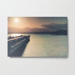 Summertime Feeling (Dock Sunset) Metal Print