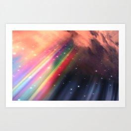 Under The Rainbow Sky Art Print