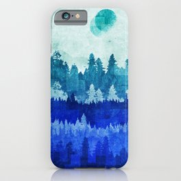 The Blue Forest Moon iPhone Case