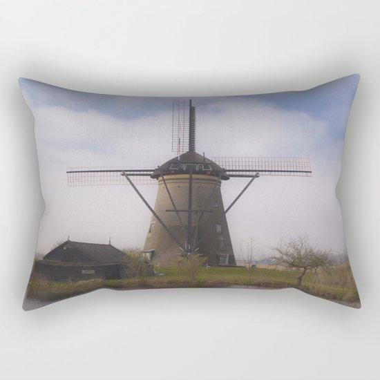 Kinderdijk Windmill III Rectangular Pillow
