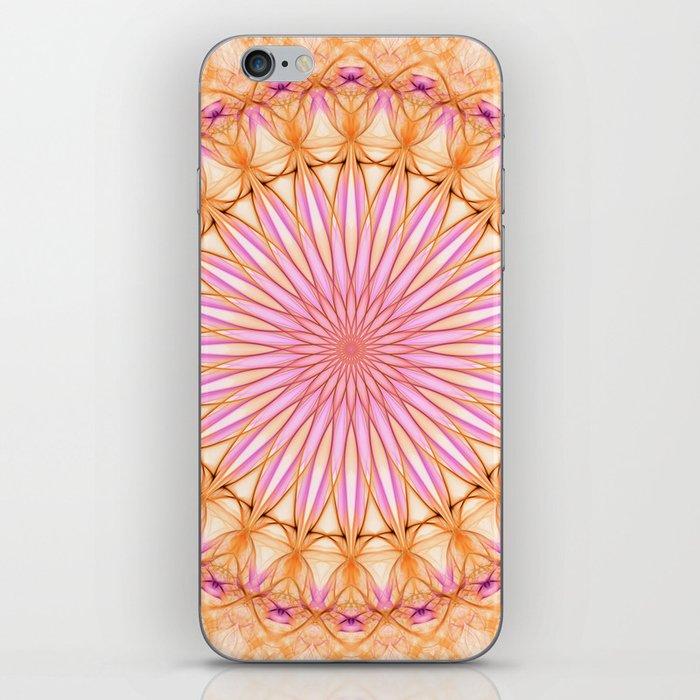 Mandala in pink, yellow and orange tones iPhone Skin