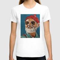 steve zissou T-shirts featuring Steve Zissou  by Kristin Frenzel