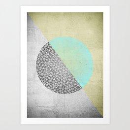 Geometric doodle Gold Art Print