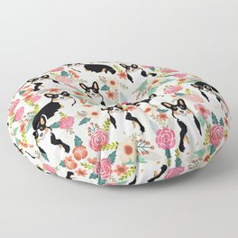 Welsh Corgi tri colored cardigan corgi dog breed must have corgi gifts for dog person pet friendly Floor Pillow