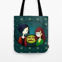daria Tote Bags featuring Daria by Paz Huichaman