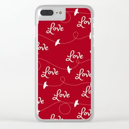 Love and Doves Clear iPhone Case