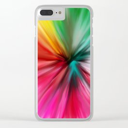 Modern abstract artsy colorful paint pattern Clear iPhone Case