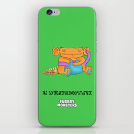 The GorgledeeFuzzwoopsydayzee iPhone Skin