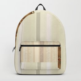 Blonde Wood Clutch with Brass Clasp Backpack