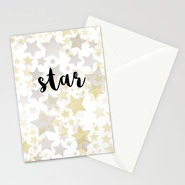 Golden Stars Stationery Cards